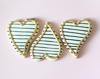 Striped Heart Cookies