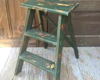 Folk Art Step Ladder