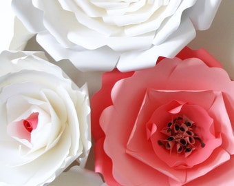 Paper Flower Backdrop / Giant Paper Flowers Wall / Paper Flower Wall / Large paper flowers / Wedding Wall / Wedding Arch