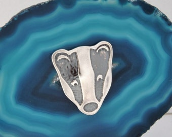 Badger Tie Pin, Sterling Silver