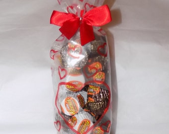 American Reese's peanut butter mixed miniatures heart gift bag