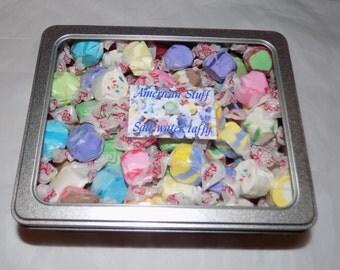 American assorted salt water taffy gift tin