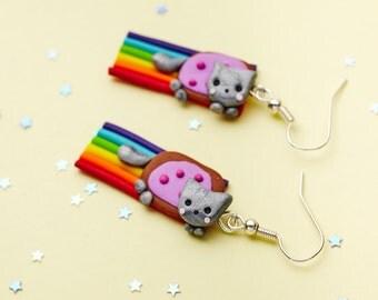 Nyan Cat Earrings (pair)