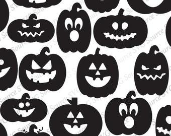Jack O Lantern SVG | Pumpkin Face SVG | Pumpkin Faces SVG Files | Halloween Svg - Pumpkin Svg Bundle for Cricut