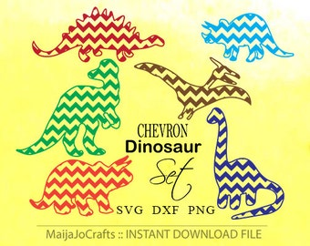 Chevron Dinosaurs SVG file Dinosaur svg Chevron Silhouette Animals svg Cricut Svg Cricut designs Cricut files downloads Monogram Font