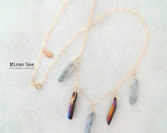 14kgf luxury quartz necklace
