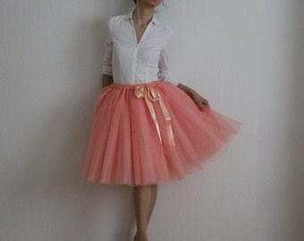 Tulle skirt petticoat melon skirt length 55 cm