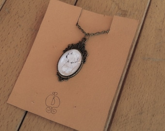 Vintage diamond deer necklace