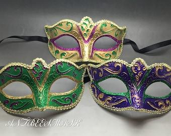 New Women Venetian 3 Color Masquerade Mardi Gras Costume Party Mask