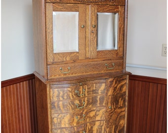 F4462 Oak Dental Cabinet