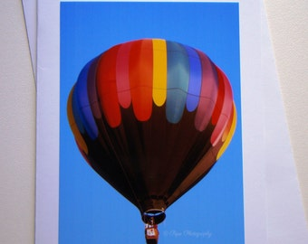 Set of 5 - Hot Air Balloon Photo Card