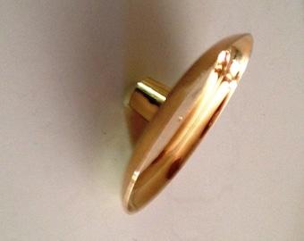 Brass Candlestick Converter; From Taper Candlestick to 3-Inch Pillar Candlestick
