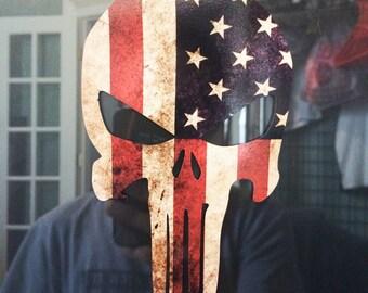 Punisher Skull, US Flag Skull Decal, Punisher Skull Decal, Punisher Bumper Sticker, Punisher Sticker, Punisher Car Decal