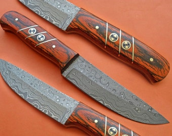 Hunting knife raindrop pattern