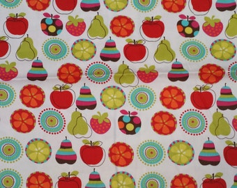 Apples and Pears Heavy Weight Cotton Fabric By The Yard