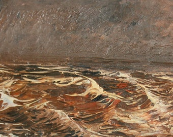 Contemporary oil painting seascape