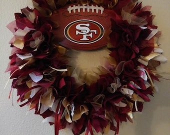 San Francisco 49ers Wreath 49ers Fans 49ers Home Decor