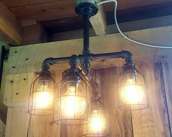Rustic lighting | Etsy
