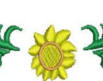 Machine Embroidery Sunflower Bottom Frame