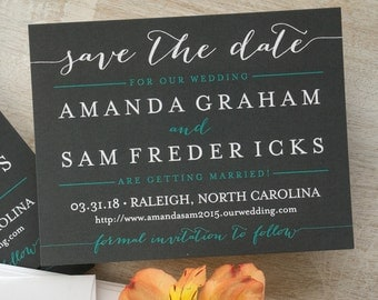 Posh Save The Date Announcements - Digital Save The Dates - Modern Save The Date Cards - Custom Wedding Announcements - AA8113