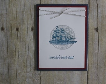 "Hand made card, ""World's Best Dad"", Dad, masculine, Stampin"" Up"