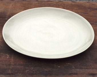 Plate in pale grey