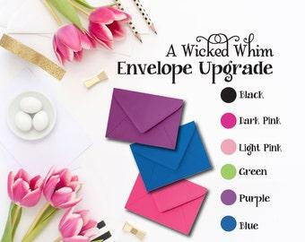 Envelope Upgrade, A Wicked Whim, Premium Envelopes