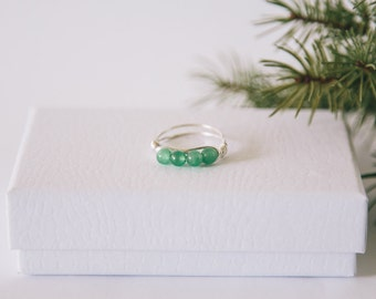 Green Aventurine Crystal Ring