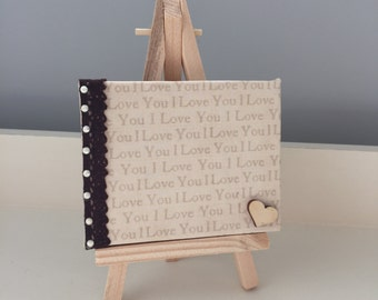 I Love You Decopatch Mini Canvas & Easel
