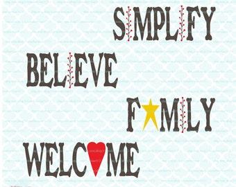 EXCLUSIVE Primitive svg Primitive Believe svg Family svg Welcome svg Simplify svg dxf eps jpg svg files for cricut svg cut files silhouette