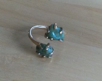 Sarah Coventry Ring - Twin Jades