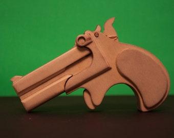 Derringer Birch Rubber Band Gun kit