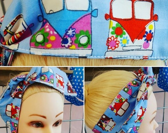 Cute VW Camper Wired Pin Up Hair Tie