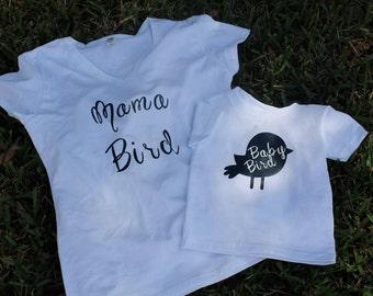 Mama Bird & Baby Bird T-shirt