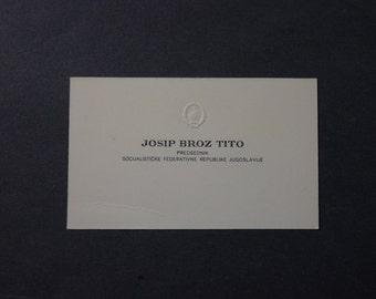 Josip Broz Tito Business Card