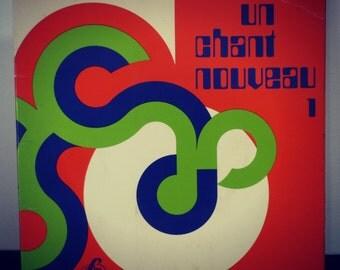 "45 rpm Vinyl ""A new song"" - religious songs vintage vinyl record - Retro wish"