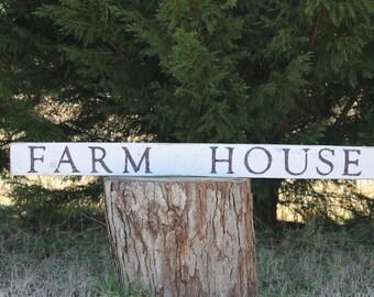 FARMHOUSE sign Reclaimed Wood
