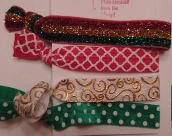 Christmas hair ties