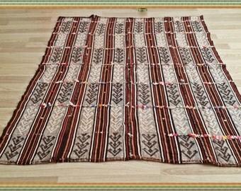 Antique Turkish Rug MADDER COLORS Handmade