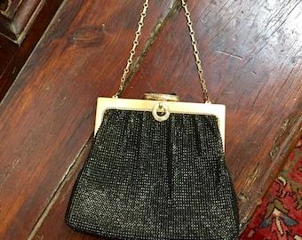 Vintage Black mesh bag