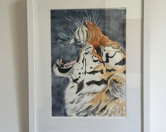 Tiger Tiger Burning Bright - Fine Art Giclée Print of a tiger roaring