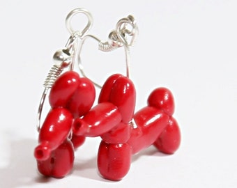 "Earrings ,,Baloon dog"" ."