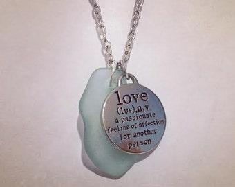 Love Sea Glass Necklace