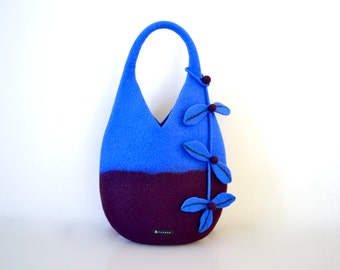 Nut bag * Cobalt blue and magenta