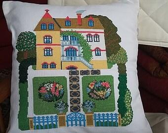 Pillow 45x45. Cross stitch on Aida.