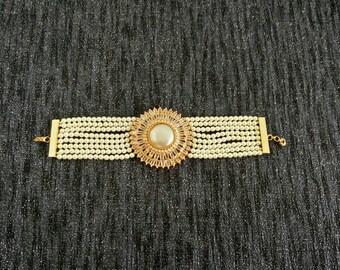 Bracelets broad moti stones Gol Chakra Antique bracelets, hand jewelery, Indian Pakistani jewelery, Hydrabadi jewellery