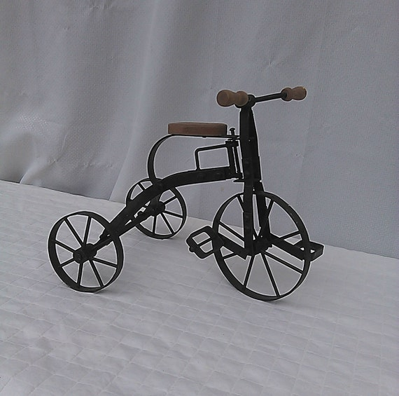 Vintage Tricycle Wheels : Vintage antique tricycle toy art model sculpture by