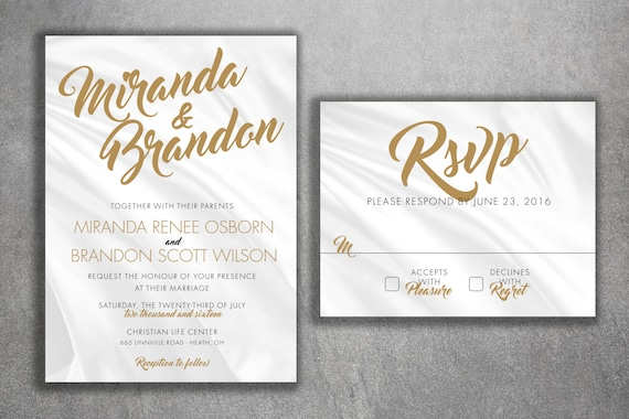 Affordable Wedding Invites: Affordable Wedding Invitations Set Printed With RSVP Cheap