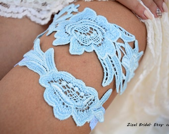 Garter Set, Wedding Garter Blue, Light Blue Garter, Wedding Garter, Bridal Garter, Something Blue, Wedding Gift, Handmade Garter, Garter Set