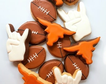 University of Texas Football Cookies